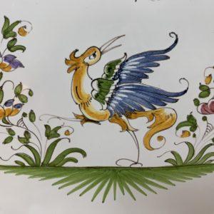Décors Oiseau, grotesque, fleur de pommes de terre