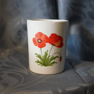 gobelet coquelicot moustiers faience